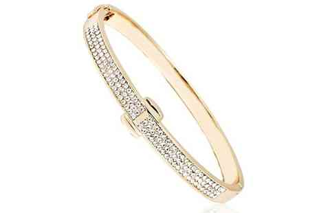 Groupon Goods Global GmbH - Gold Plated Crystal Bracelet with Crystals from Swarovski - Save 88%