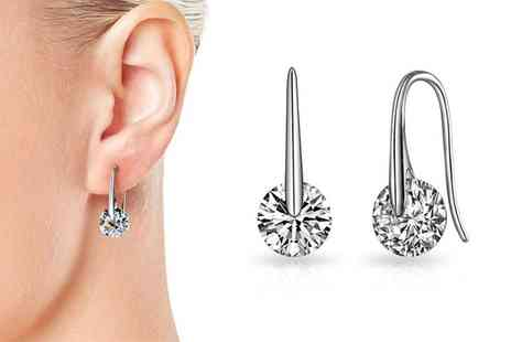 Groupon Goods Global GmbH - One or Two Pairs Atlas Earrings with Crystals from Swarovski - Save 90%