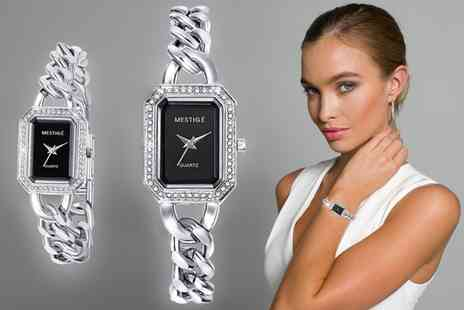 Sarroff - The Woolfe Womens Watch with Crystals from Swarovski With Free Delivery - Save 78%