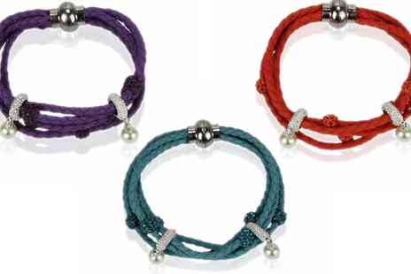 Groupon Goods Global GmbH - Bracelet with Pearl Charm in Choice of Colour - Save 81%