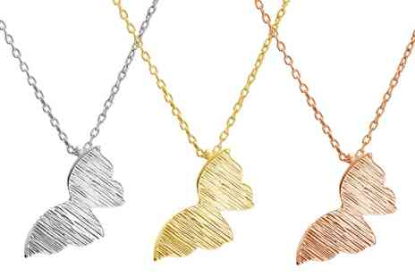 Jewells House - One, Two or Three Flying Butterfly Necklaces With Free Delivery - Save 77%