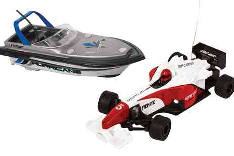 Groupon Goods Global GmbH - Mini Race Car or Speedboat - Save 0%