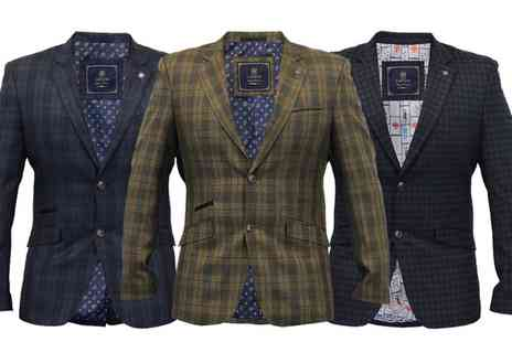 Groupon Goods Global GmbH - Mens Cavani Slim Fit Blazers With Free Delivery - Save 0%