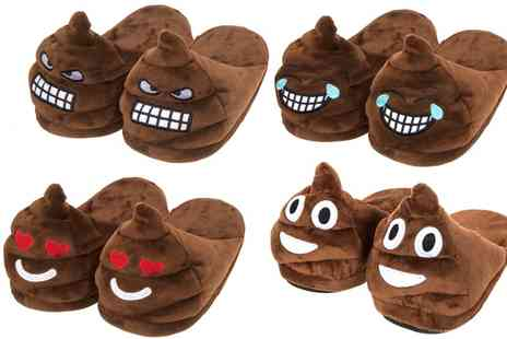 Groupon Goods Global GmbH - Emoji Poop Slippers in Choice of Size and Design - Save 0%