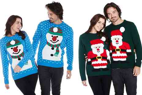 Groupon Goods Global GmbH - Unisex 3D Pom Pom Christmas Jumper in Choice of Design - Save 78%
