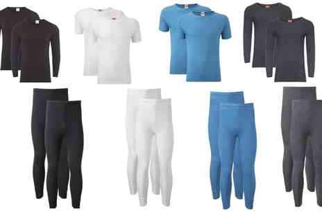 Groupon Goods Global GmbH - Mens Two Base Thermal Layers in Choice of Colour - Save 65%