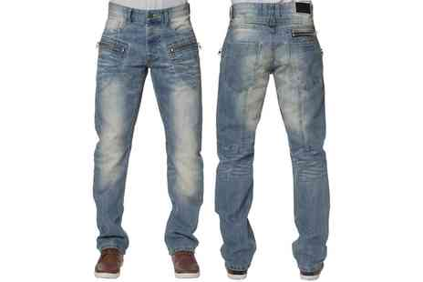 Groupon Goods Global GmbH - Mens Enzo Straight Leg Jeans - Save 0%
