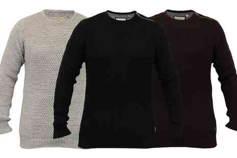 Groupon Goods Global GmbH - Mens Brave Soul Wool Mix Waffle Jumpers - Save 0%