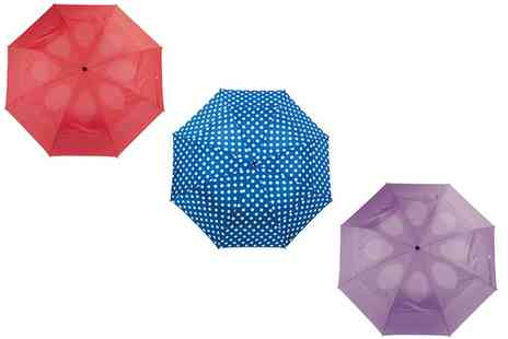 Groupon Goods Global GmbH - Double Vented Wind Resistant Umbrella in Choice of Colour - Save 66%