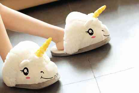 Groupon Goods Global GmbH - Womens Unicorn Novelty Slippers in Choice of Colour  - Save 0%