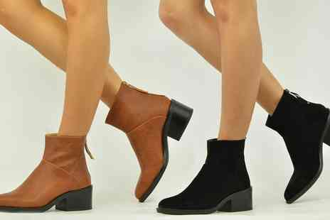 Groupon Goods Global GmbH - Womens Pointed Ankle Boots in Choice of Style and Colour - Save 0%
