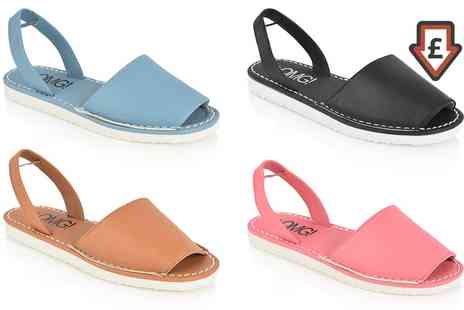 Groupon Goods Global GmbH - Womens Flat Slingback Sandals in Choice of Colour and Size - Save 0%