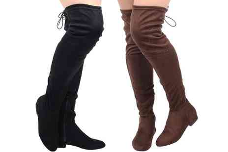 Groupon Goods Global GmbH - Womens Flat Over Knee Boots in Choice of Style - Save 0%