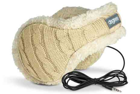 Groupon Goods Global GmbH - Earmuffs with Headphones in Cream or Black - Save 75%