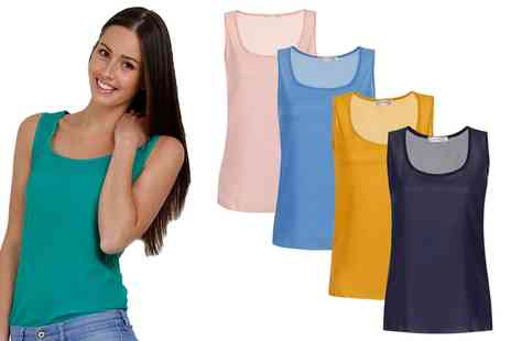 Groupon Goods Global GmbH - Womens Two Pack Chiffon Vest in Choice of Colour - Save 70%