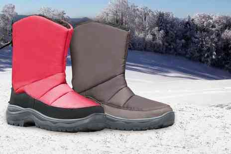 Groupon Goods Global GmbH - Womens Fleece Lined Winter Boots in Brown or Red - Save 74%