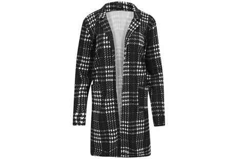 Groupon Goods Global GmbH - Womens Check Duster Coat - Save 0%