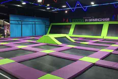 Bounce in Birmingham - Trampoline Party for Ten Kids with a Hot Meal and Drinks - Save 0%