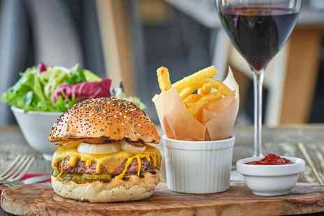 Vinothec Compass - Burger with Fries and Beer or Wine for Two or Four - Save 44%