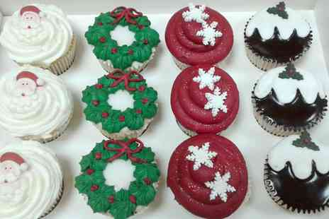 The cake gallery - Box of 6 or 12 Christmas Cupcakes - Save 67%