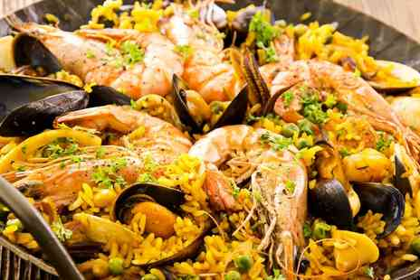 Mi Casa - Choice of Paella with Bread and Olives and a Jug of Sangria to Share for Up to Four - Save 44%