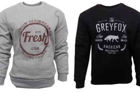 Groupon Goods Global GmbH - Two Mens Sweatshirt Tops in Choice of Design With Free Delivery - Save 38%