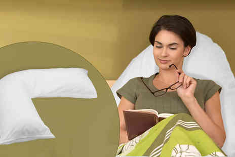 Gorgeous Selection - V Shaped Support Pillow with Free Pillow Case - Save 67%