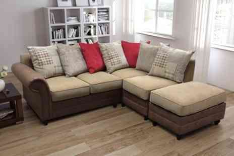 Groupon Goods Global GmbH - Perez Corner Sofa With Free Delivery - Save 50%