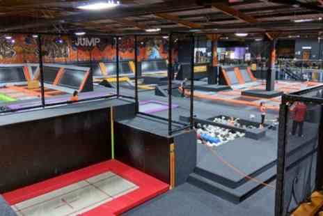 Jump Jam Trampoline Park - One Hour Jumping Session for Up to Four - Save 27%