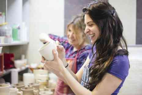 Glitter and Glue - Festive Pottery Painting Class for One or Two Children or a Family - Save 0%