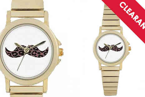 Jewellery Bank - Portobello Road Moustache Watch with Free Delivery - Save 72%