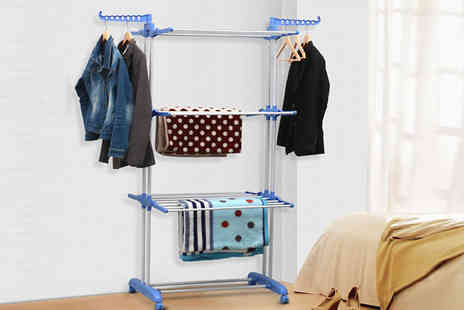 A2BShopping - Extra Large Clothes Airer in 3 Racks - Save 0%