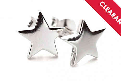 Jewellery Bank - Sterling Silver Star Stud Earrings with Free Delivery - Save 65%