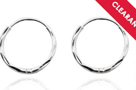 Jewellery Bank - Diamond Cut Sterling Silver Sleeper Earrings with Free Delivery - Save 65%