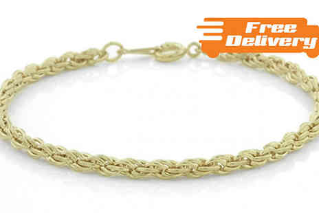 Jewellery Bank - Polished Gold Tone Multi Link Bracelet with Free Delivery - Save 72%