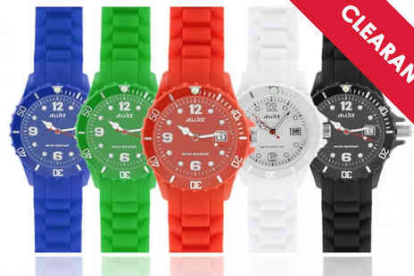 Jewellery Bank - Unisex Silicone Watch in 5 Colours - Save 65%