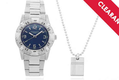 Jewellery Bank - Stainless Steel Boys Watch and Dog Tag Set Free Delivery - Save 65%