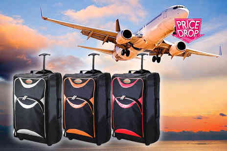 TLD Marketing - Cabin approved Humlin luggage suitcase choose black with red, orange or silver accents - Save 74%