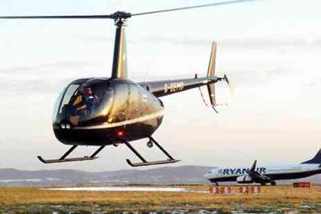 Helicentre - 30 mile Helicopter buzz flight with a choice of drink - Save 50%