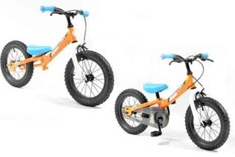 Groupon Goods Global GmbH - Kids Muddypaws14 Inch Balance and Pedal Bike With Free Delivery - Save 35%