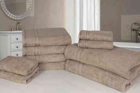 Groupon Goods Global GmbH - 10 Piece Egyptian Cotton Towel Bale - Save 50%