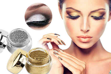 GetGorgeous - Foil eyeshadow gel choose from silver or gold - Save 65%