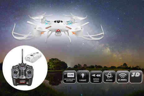 ViVo Technologies - Quadcopter 360 stunt drone with camera and remote control - Save 74%