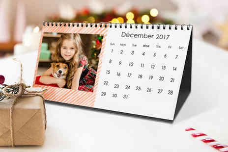 "Harrier LLC - Free standing 10'' x 5"" personalised desk photo calendar - save 62% - Save 62%"