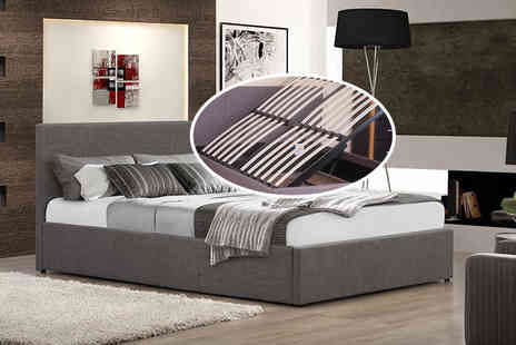 FTA Furnishing - Small double or double side lift Ottoman bed with a mattress - Save 0%