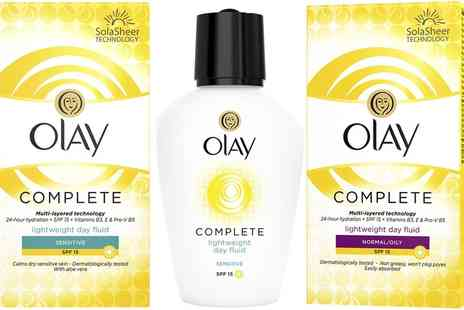 Groupon Goods Global GmbH - Three or Six Pack 100ml Olay Essentials Daily Moisturiser Regular or Sensitive - Save 44%