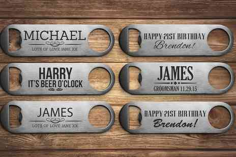 Fabness - Personalised Steel Bottle Opener - Save 75%