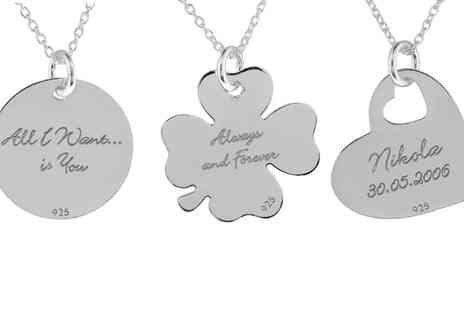 Jewells House - Personalised Sterling Silver iThinky Necklace With Free Delivery - Save 75%