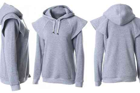 Groupon Goods Global GmbH - Womens Angel Sleeve Hoodie - Save 0%