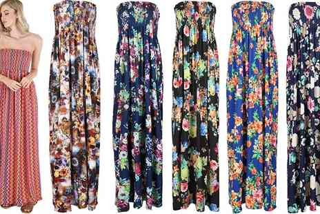Groupon Goods Global GmbH - Sheering Printed Maxi Dress - Save 0%